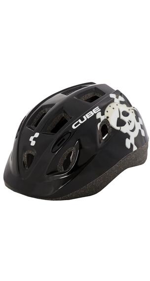 Cube Skull kinderfietshelm zwart